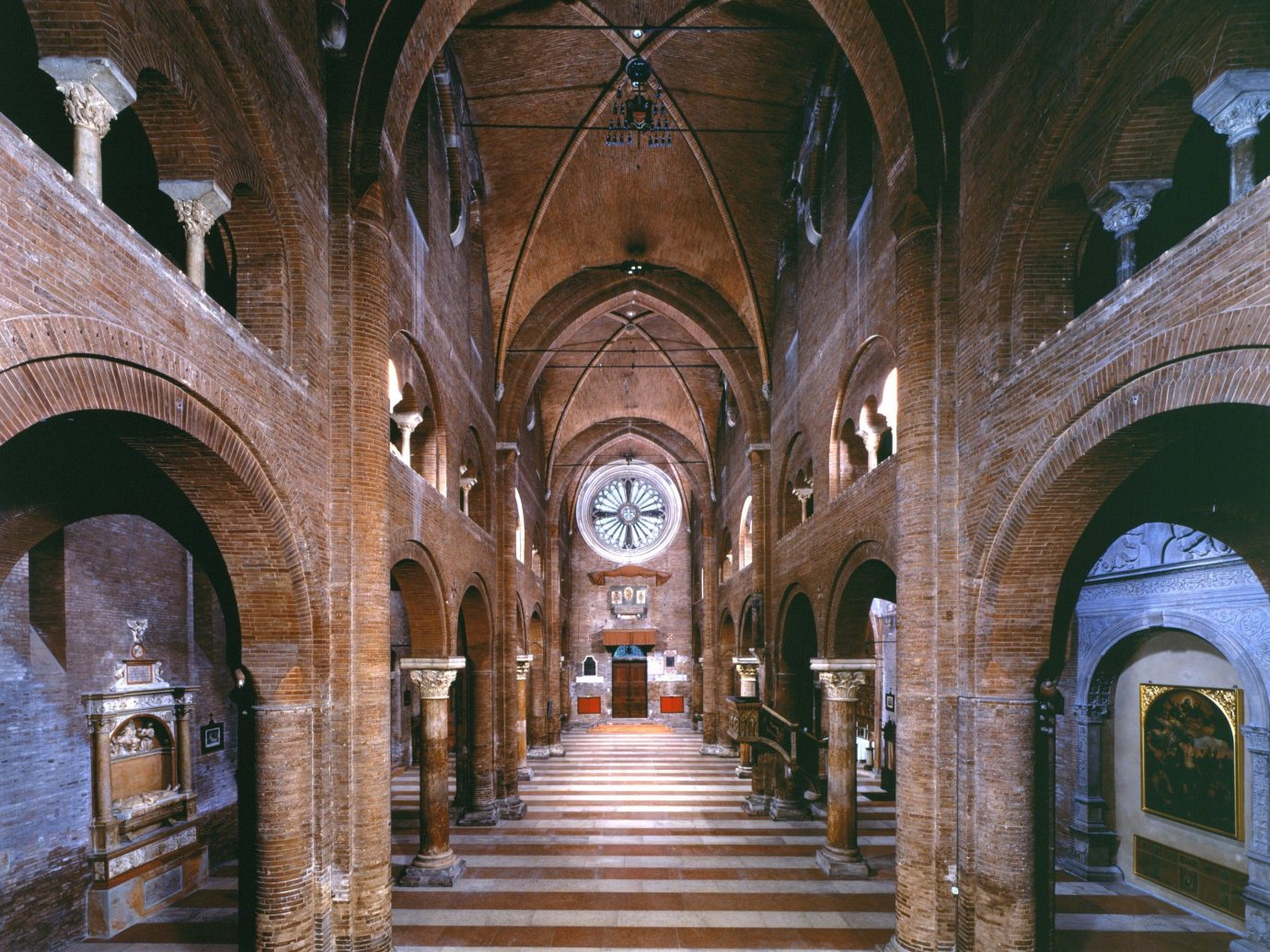 europe Italy Off-the-beaten Path Trip Ideas building medieval architecture outdoor arch place of worship byzantine architecture arcade basilica Church historic site cathedral chapel symmetry column gothic architecture vault abbey window stone court walkway colonnade