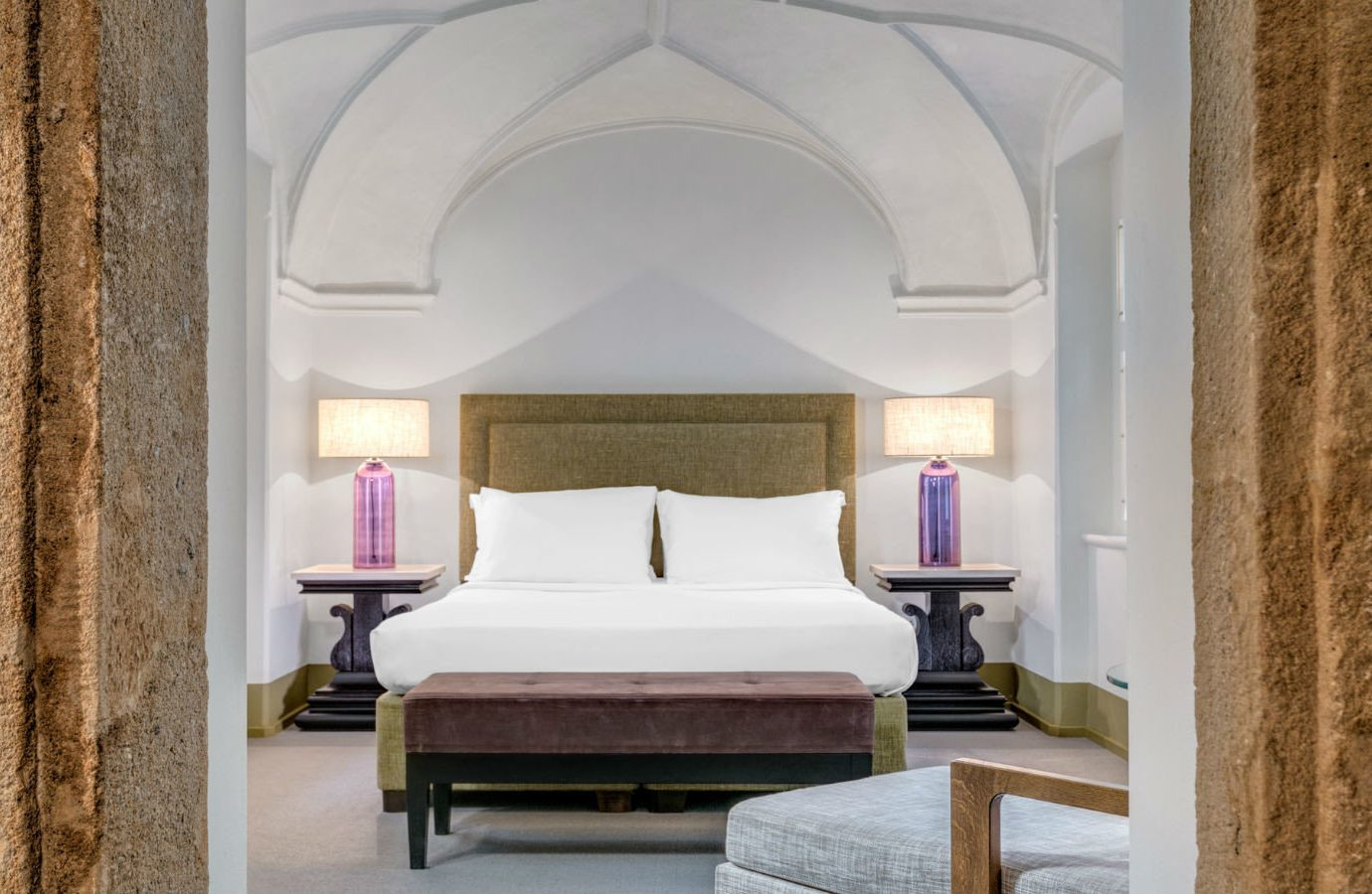 europe Hotels Prague wall room indoor Suite ceiling Architecture interior design estate stone Bedroom hotel window furniture interior designer