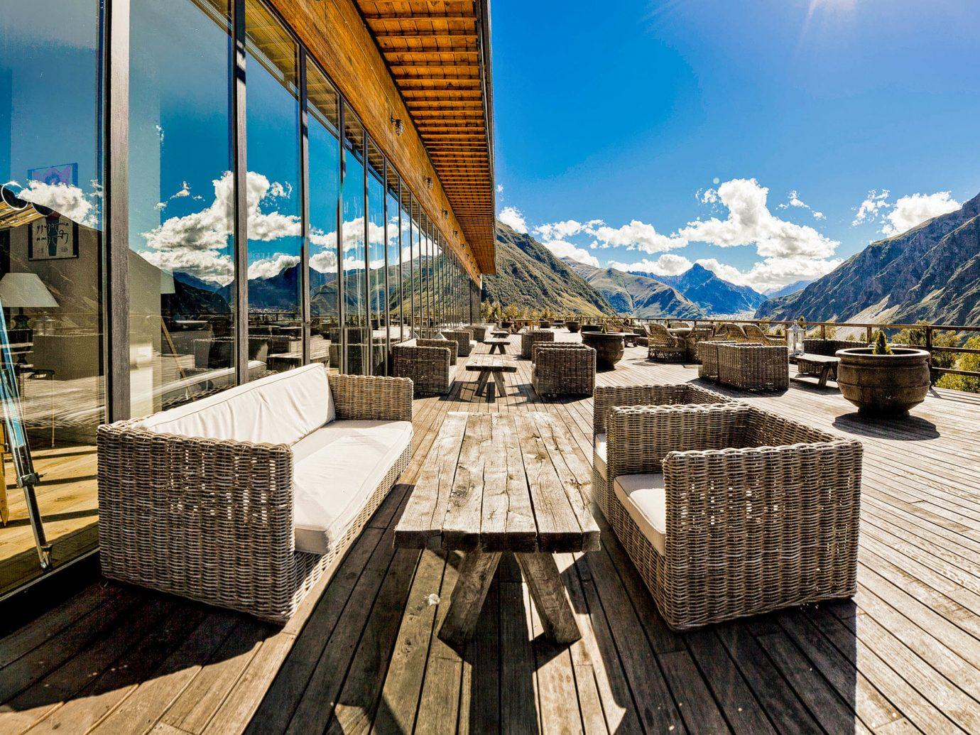 ski georgia country sky mountain tourism travel leisure landscape vacation tree building
