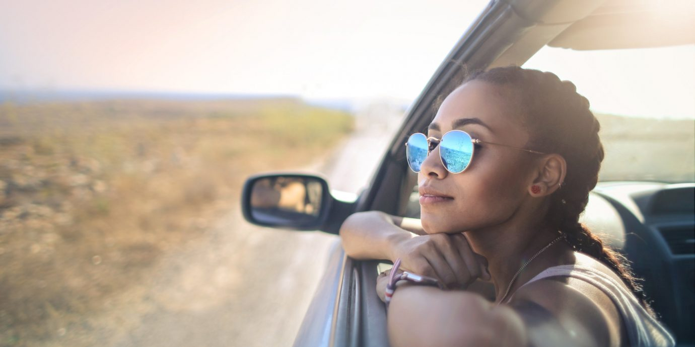 Giveaway Sweepstakes person car sky outdoor sunglasses eyewear glasses vision care photography vacation car mirror girl mirror vehicle sunlight fun driving