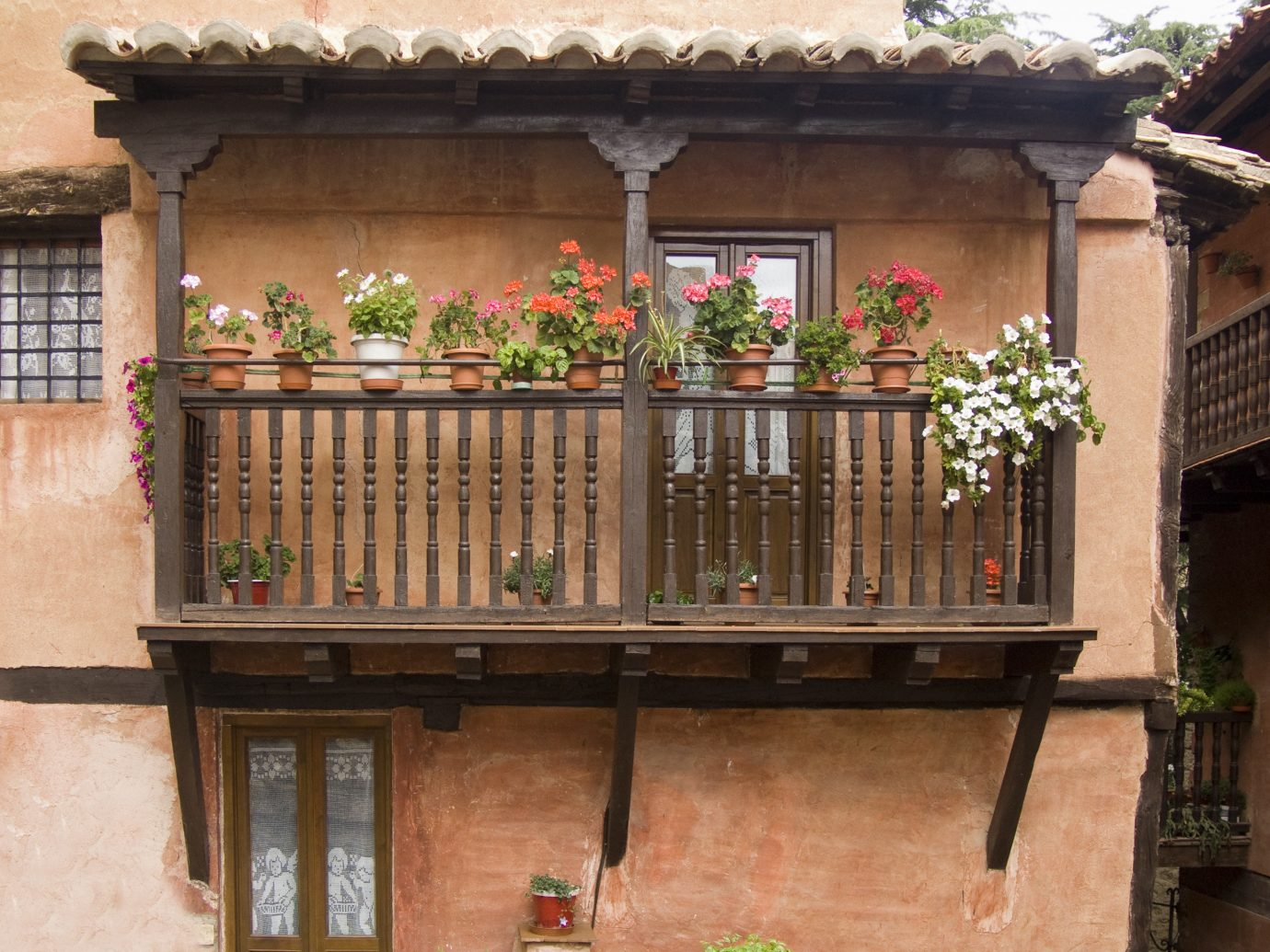 europe Spain Trip Ideas Balcony property facade iron window baluster house outdoor structure gate