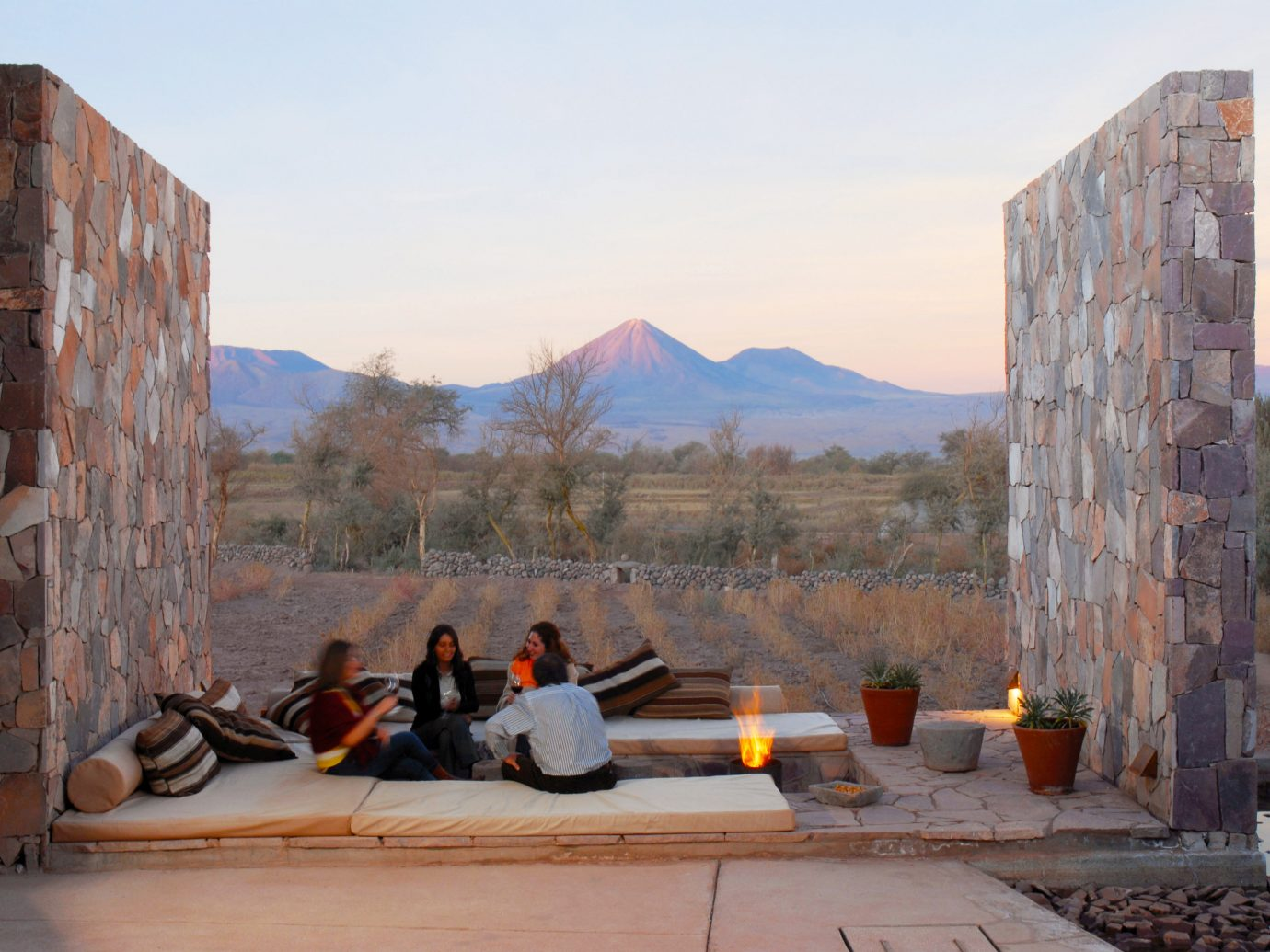 Architecture Buildings Exterior Firepit Mountains Outdoors Trip Ideas sky outdoor wall tourism vacation rock ancient history