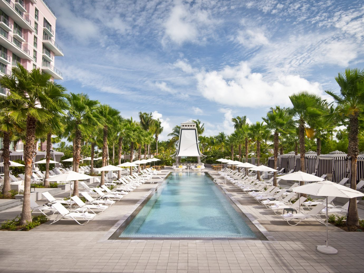 Bahamas caribbean Trip Ideas Resort arecales palm tree tree swimming pool walkway leisure residential area condominium vacation water estate sky reflecting pool real estate tourism outdoor structure