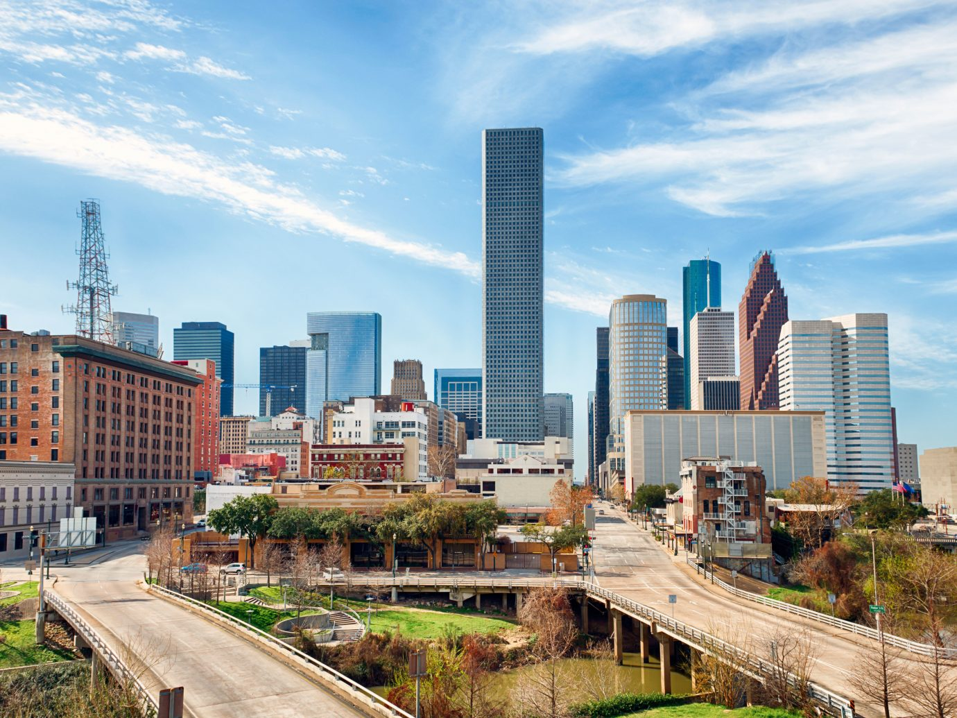 City Houston Outdoors + Adventure Scenic views Texas Trip Ideas outdoor sky metropolitan area grass skyline tower block skyscraper cityscape geographical feature landmark urban area metropolis human settlement residential area neighbourhood Downtown horizon Architecture condominium panorama tower