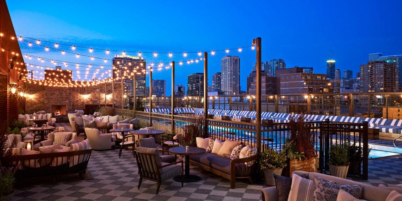 Boutique Hotels Chicago Hotels Trip Ideas sky outdoor Resort plaza City evening marina estate cityscape condominium restaurant overlooking area furniture several