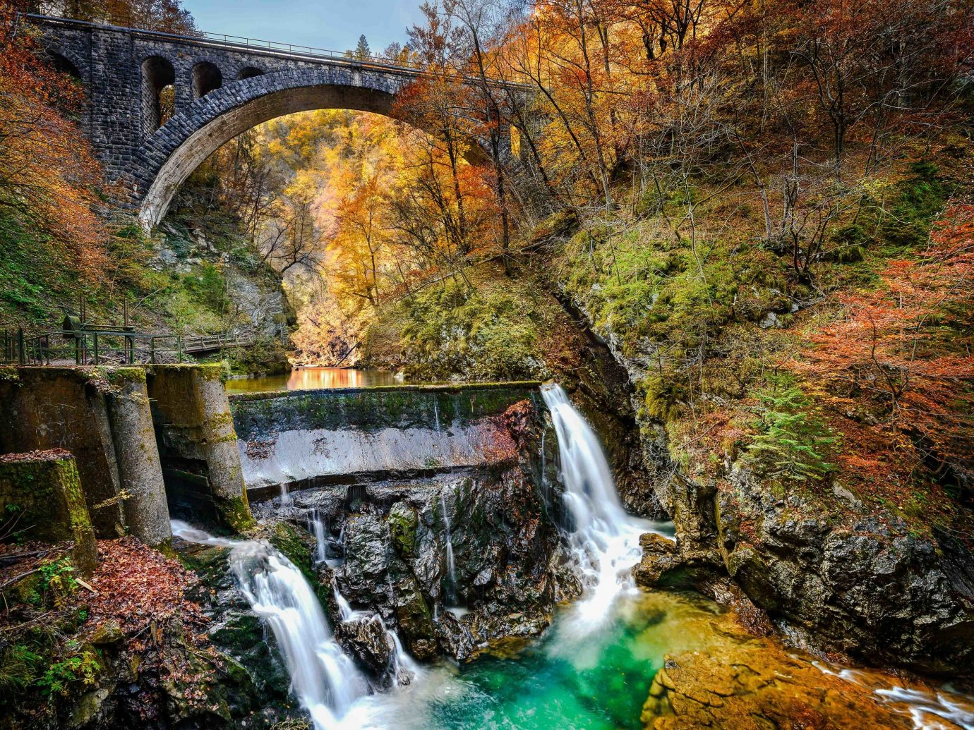 Croatia Eastern Europe europe Montenegro Slovenia Trip Ideas water Nature Waterfall leaf body of water vegetation watercourse nature reserve autumn stream tree water feature River reflection landscape creek plant water resources chute state park arroyo rock