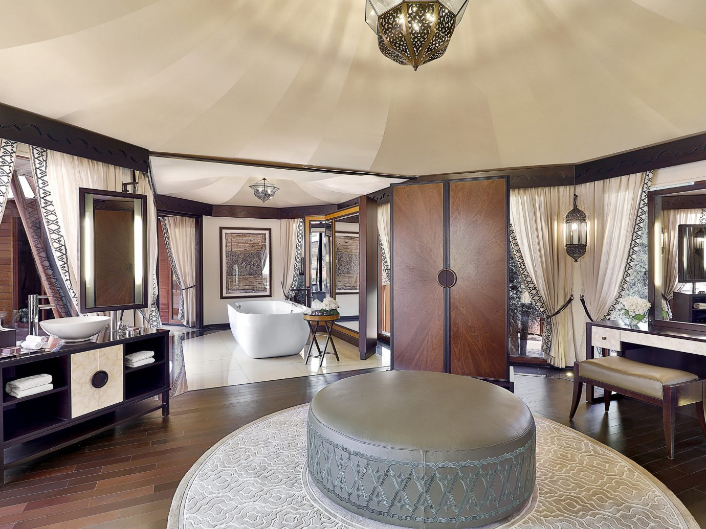 Trip Ideas indoor room floor wall Living ceiling interior design Suite furniture real estate living room estate area lamp