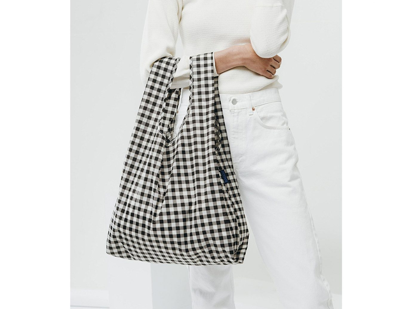 Japan Packing Tips Style + Design Travel Shop person white clothing wall posing shoulder wearing waist joint pocket dress pattern plaid product dressed