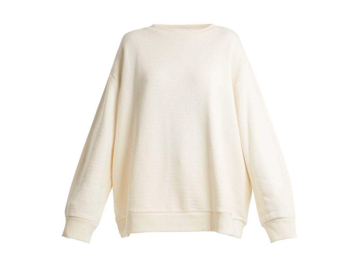 Style + Design Travel Shop sleeve shoulder neck sweater beige long sleeved t shirt