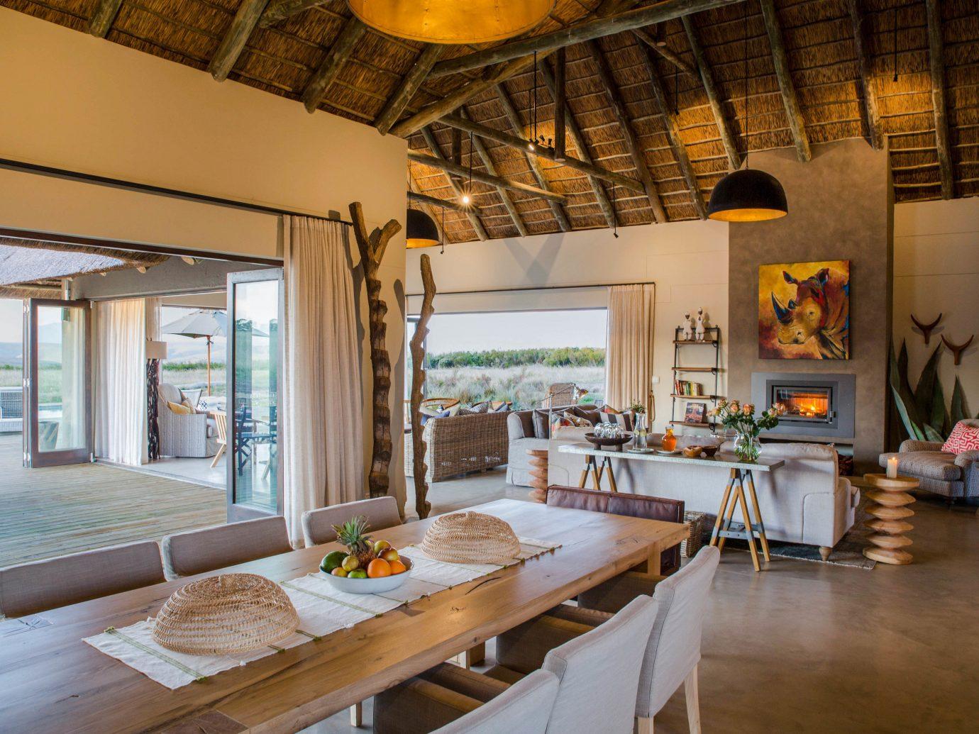 Gondwana Game Reserve indoor table floor interior design room real estate ceiling living room loft estate house wood furniture several Island