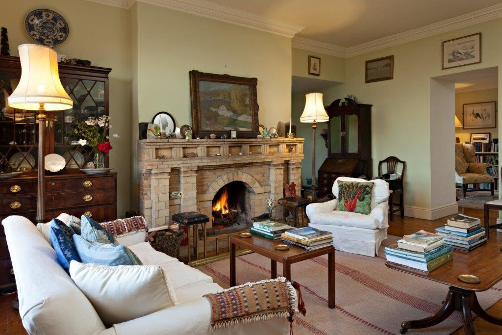 europe Hotels Ireland Living indoor room wall sofa floor living room property Fireplace ceiling interior design home estate real estate furniture house hearth area