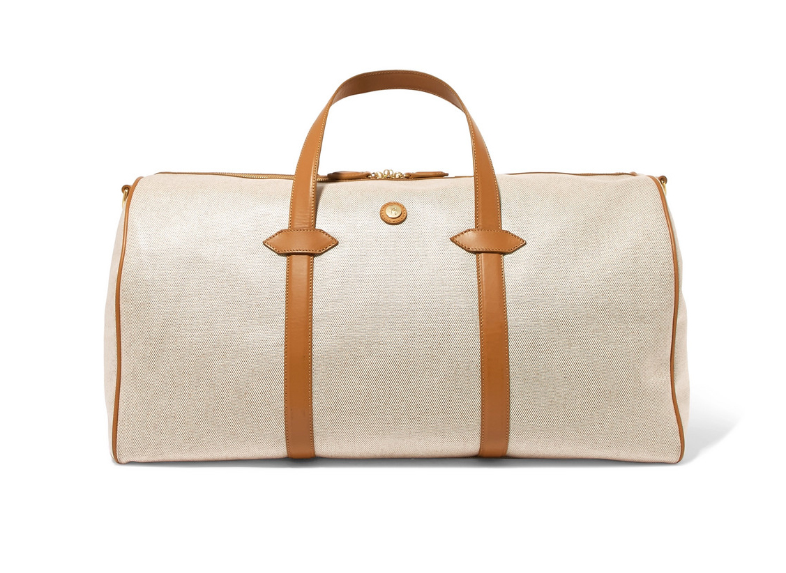 Best Weekend Bags Paravel Main Line Duffel leather-trimmed printed canvas weekend bag