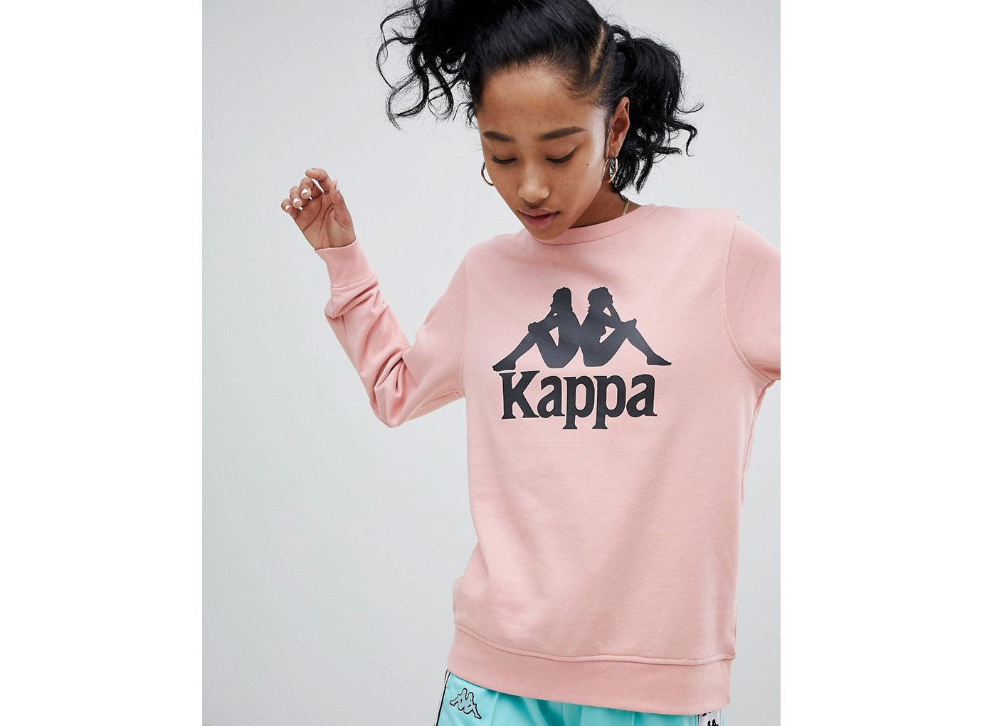 best sweatshirts, Kappa Oversized Sweatshirt with large Front Logo