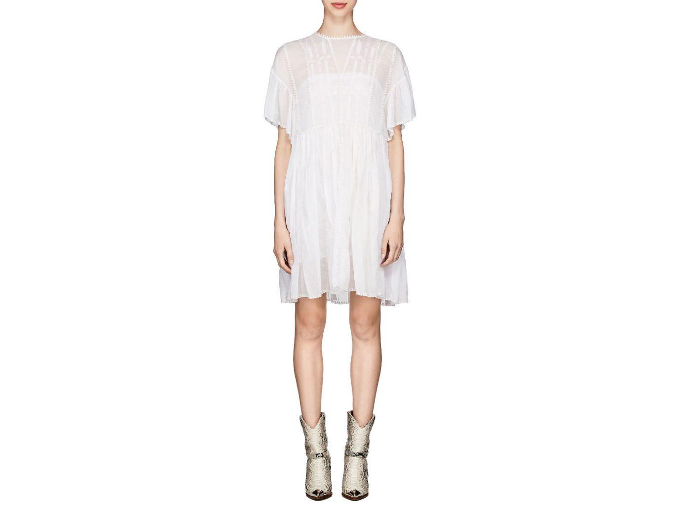Isabel Marant Étoile Annaelle Embroidered Cotton Smock Dress