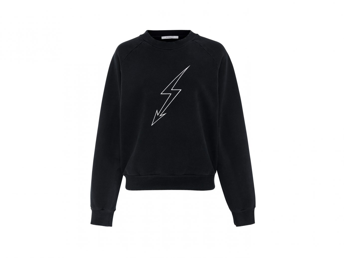 best sweatshirts,Givenchy Lightning Bolt Cotton-Jersey Sweatshirt
