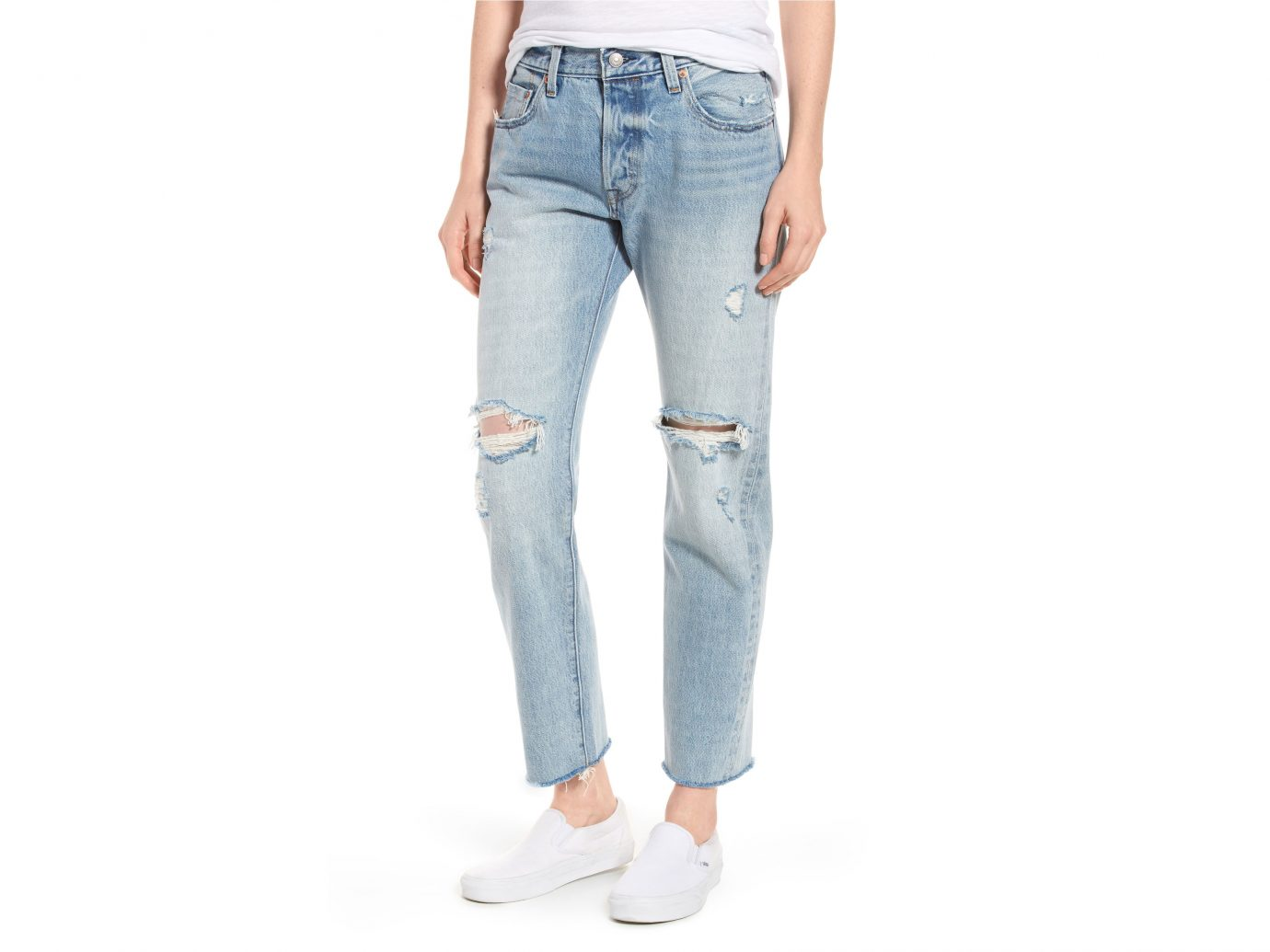 Levi's Ripped High Waist Crop Jeans