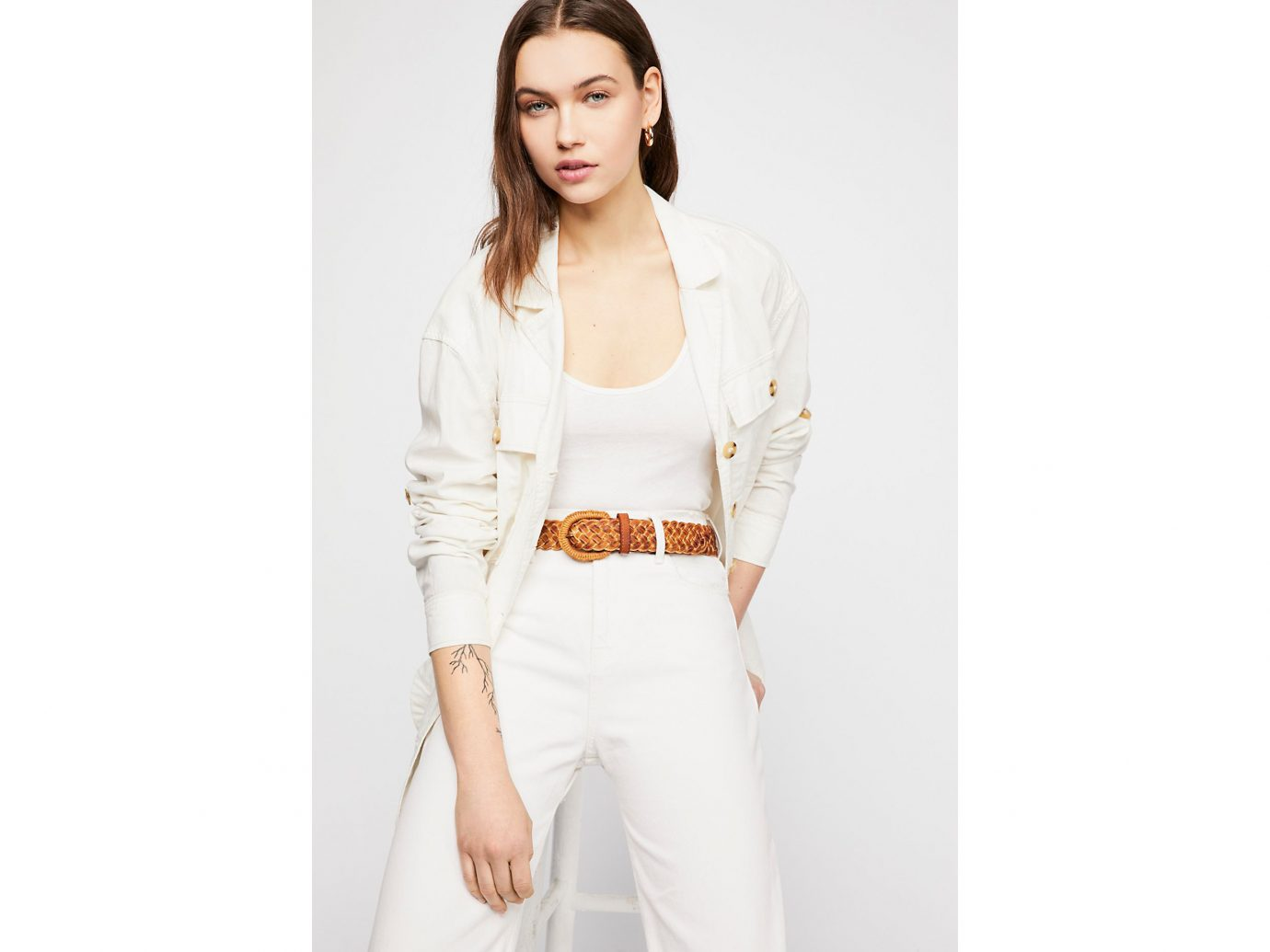 Free People Sahara Sands Braided Belt