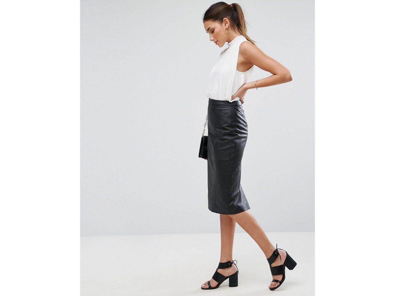 Asos Design Midi pencil skirt in leather