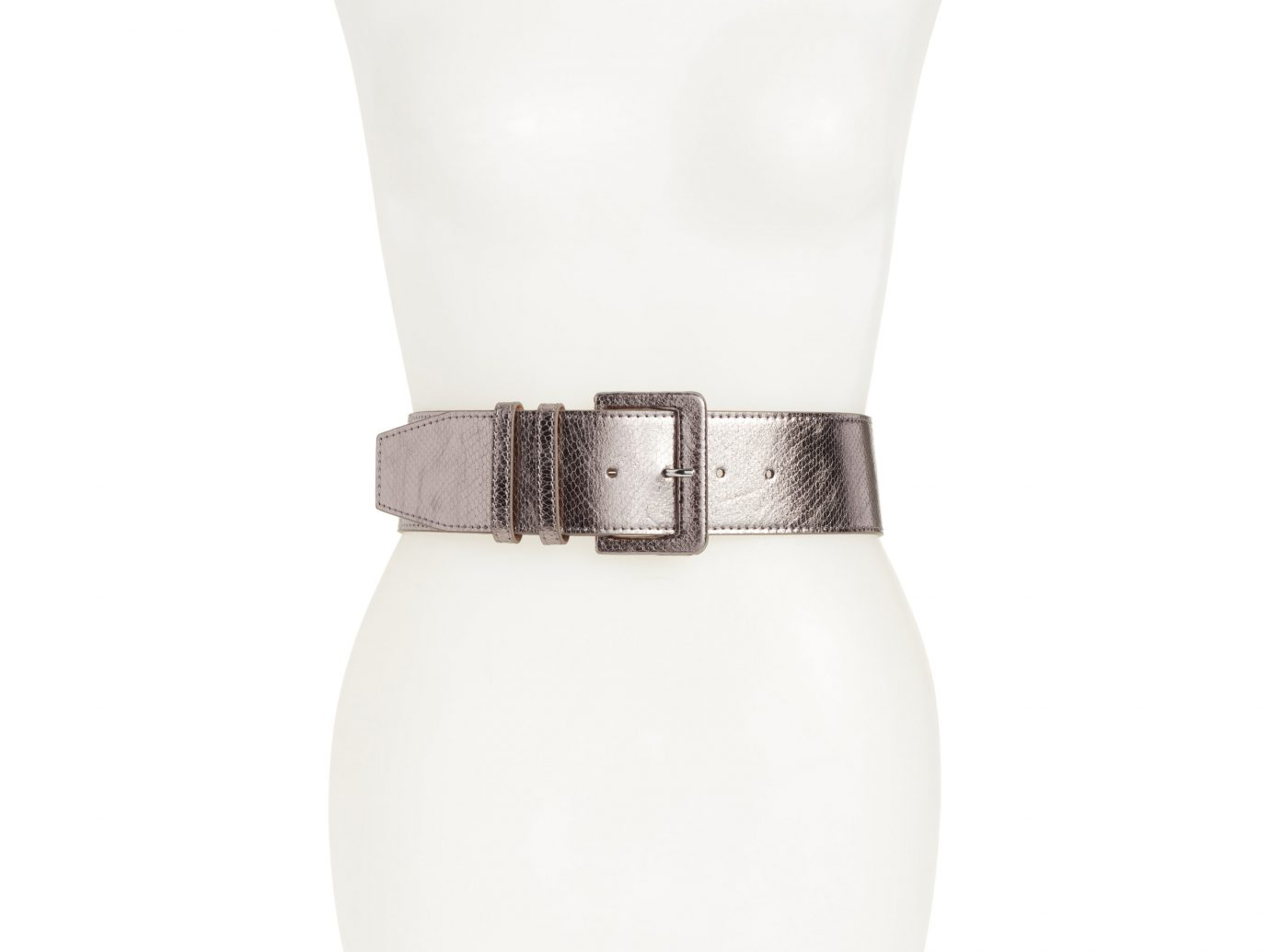 Halogen Exotic Snakeskin Embossed Stretch Belt