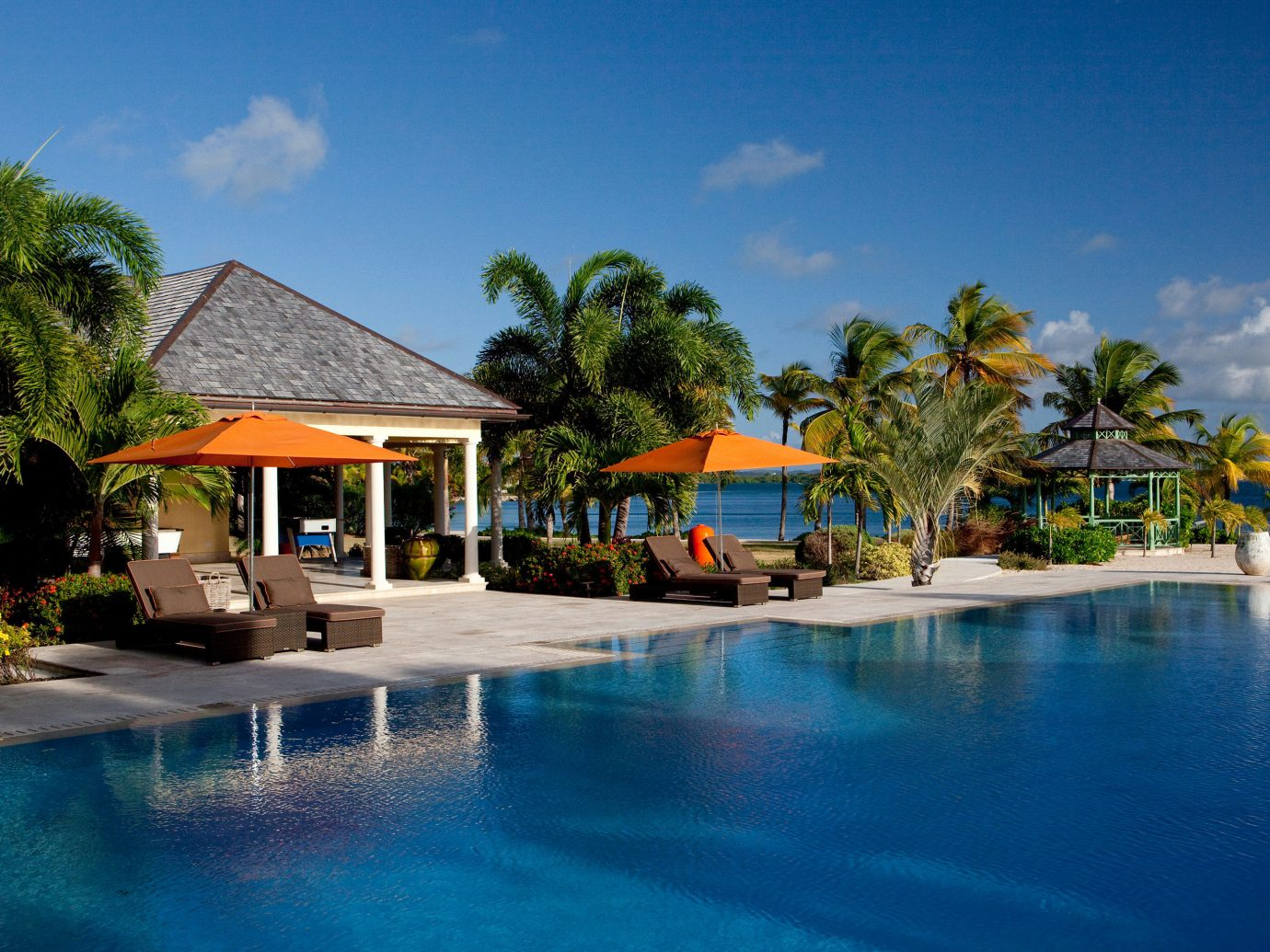 Pool at Jumby Bay Island, Antigua, Caribbean