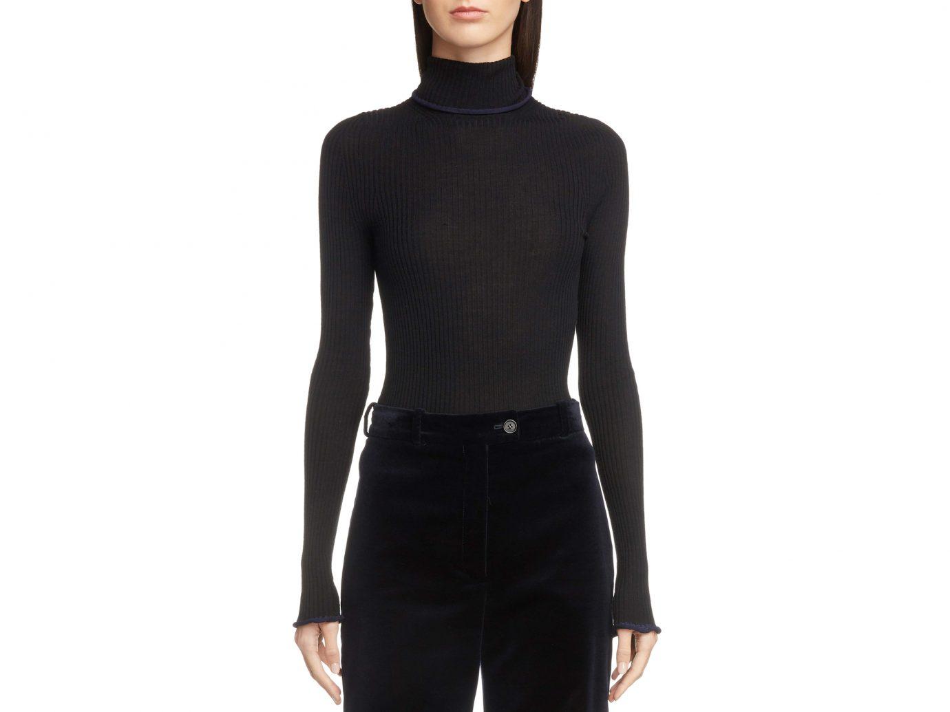 ACNE STUDIOS Ribbed Wool Turtleneck Sweater