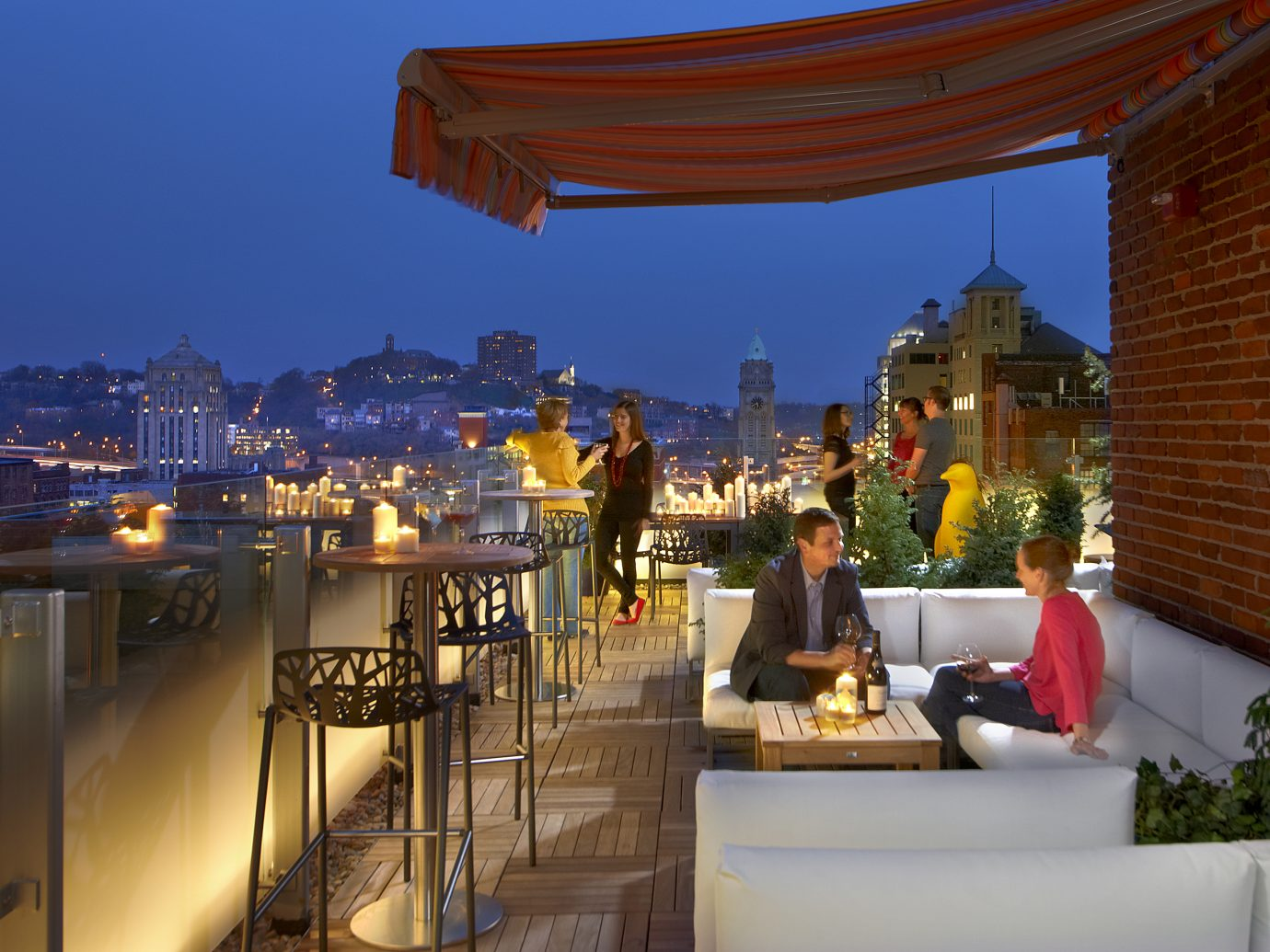 Cocktail Terrace at 21C Cincinnati
