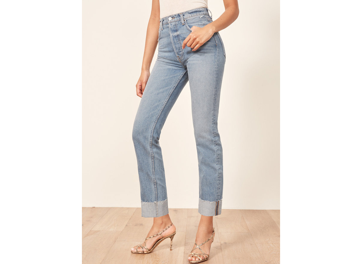 Reformation Cynthia High Relaxed With Cuff