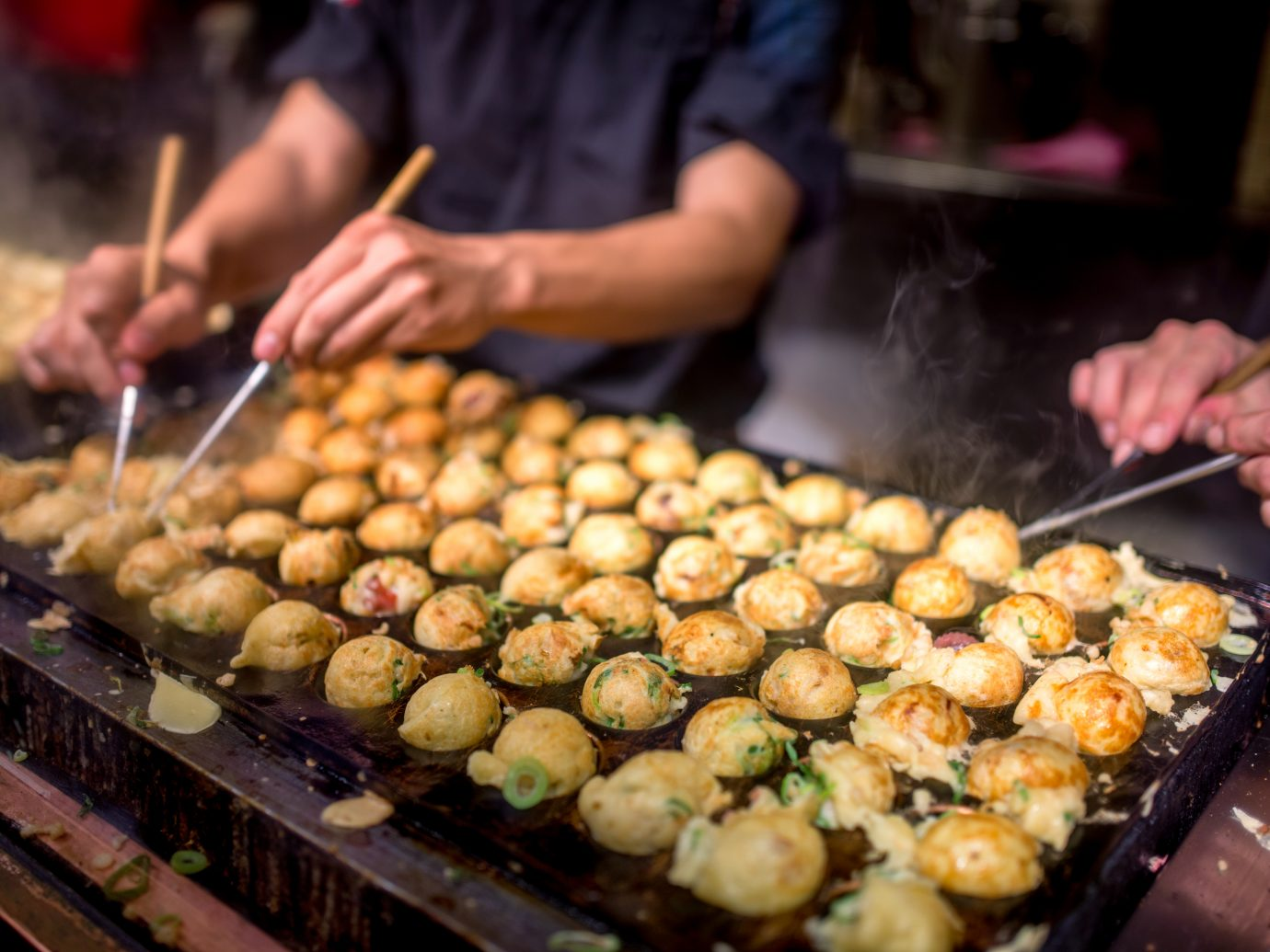 process to cooking takoyaki