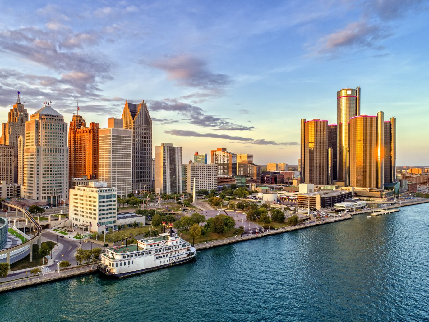 Skyline view of Detroit
