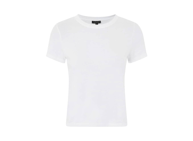 TopShop Basic Crop T-Shirt in White