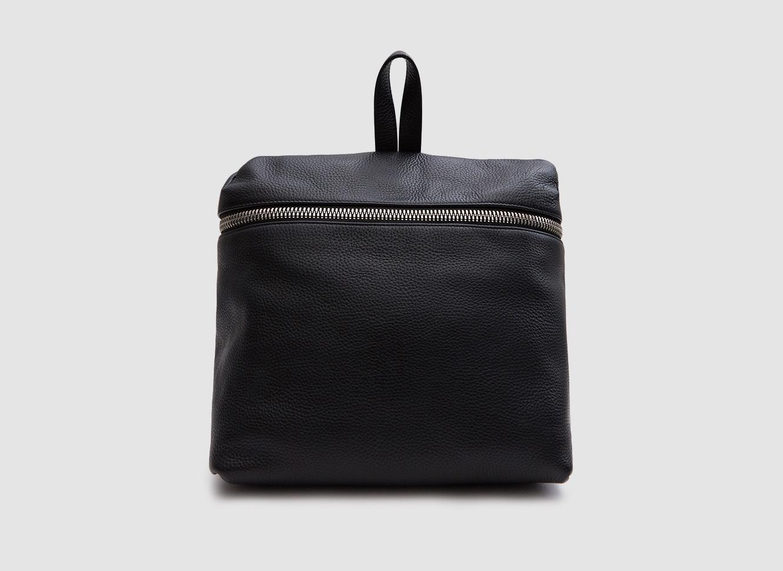 Kara Leather Backpack in Black