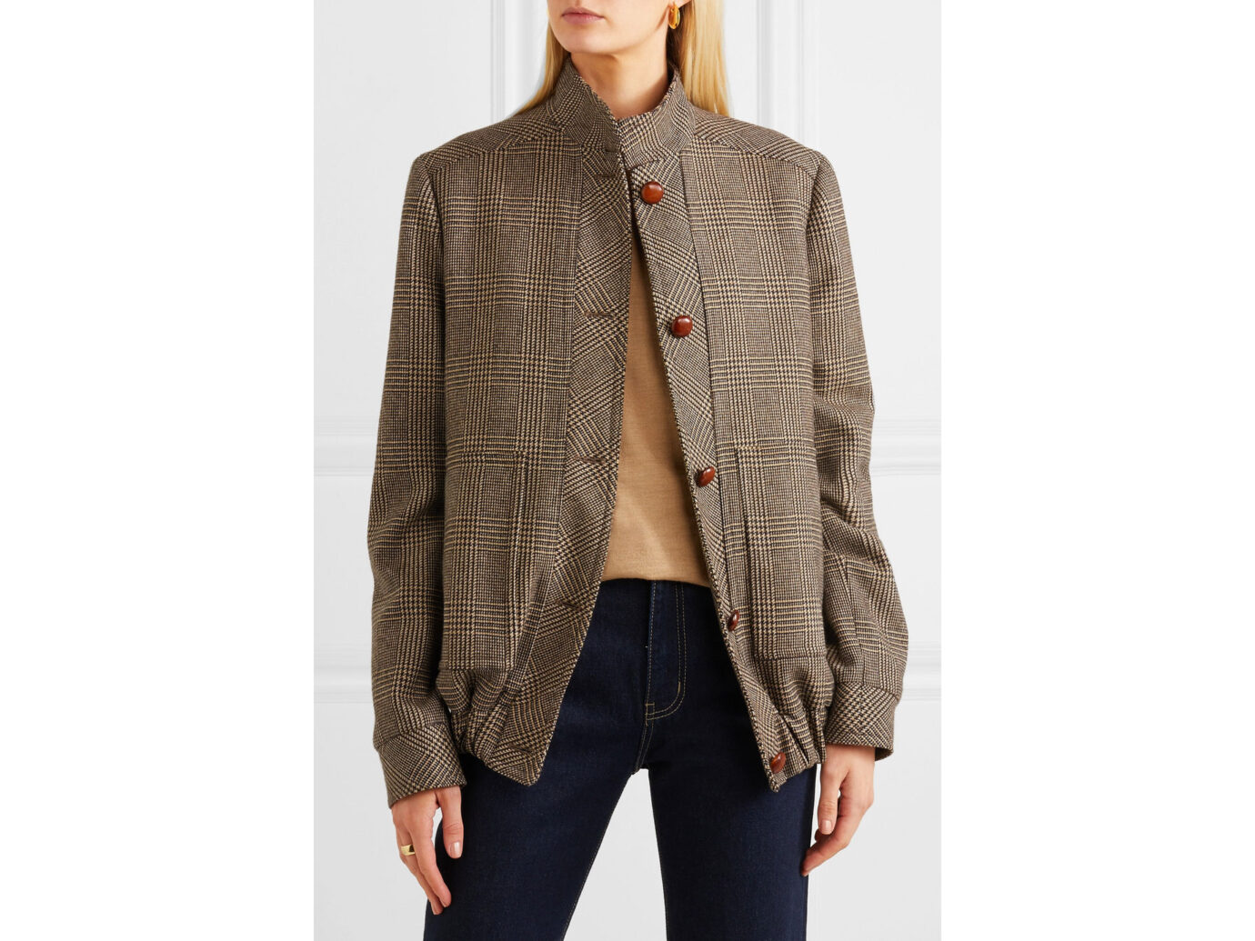 Giuliva Heritage Collection Diana Prince of Wales checked merino wool jacket