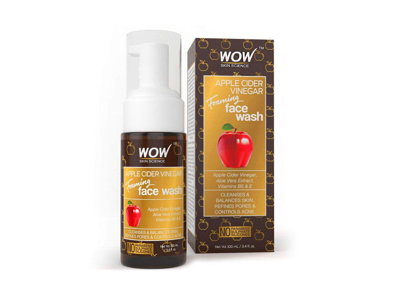 WOW Apple Cider Vinegar Foaming Face Wash Cleanser