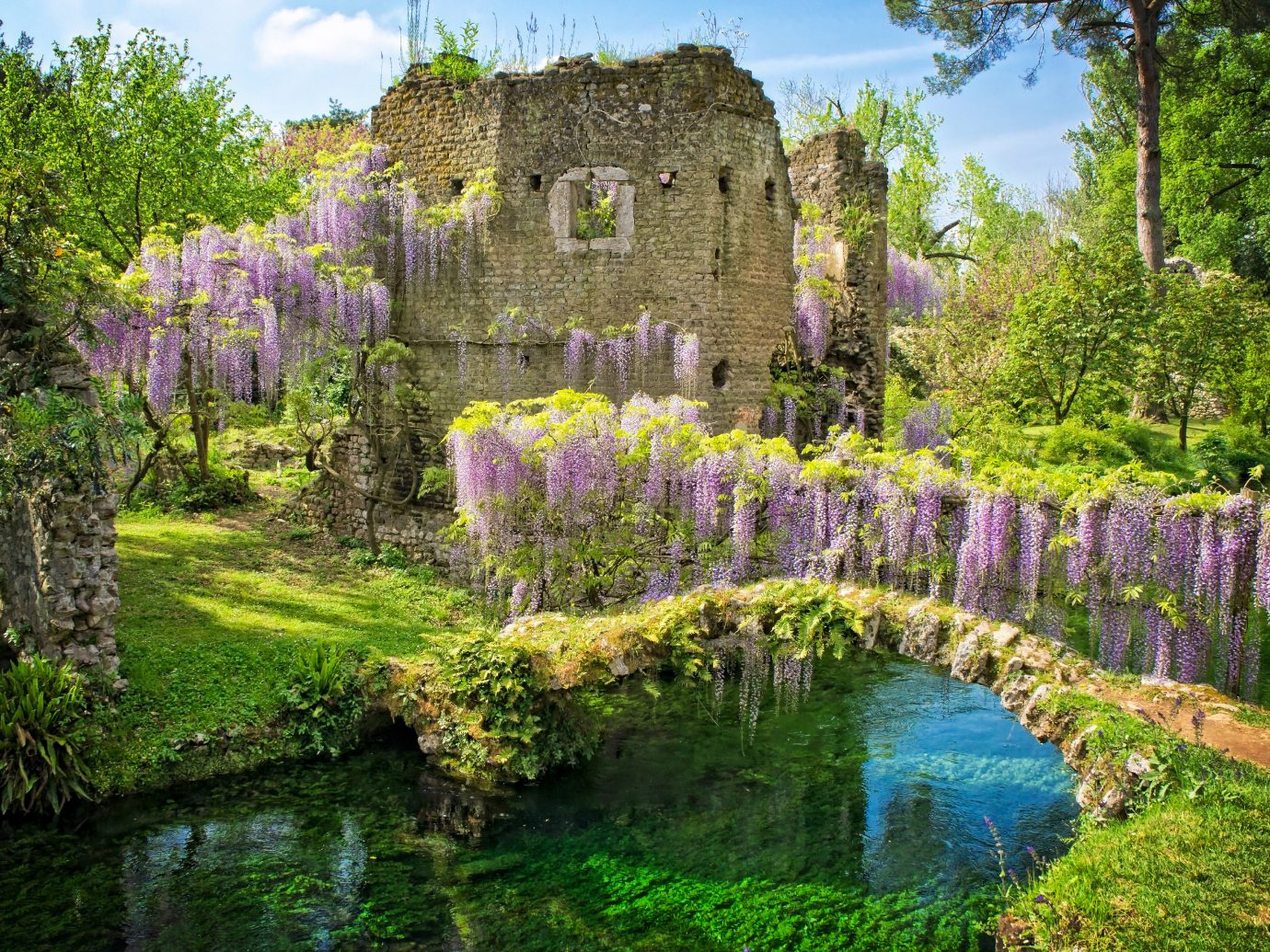 Beautiful view of the Gardens of Ninfa