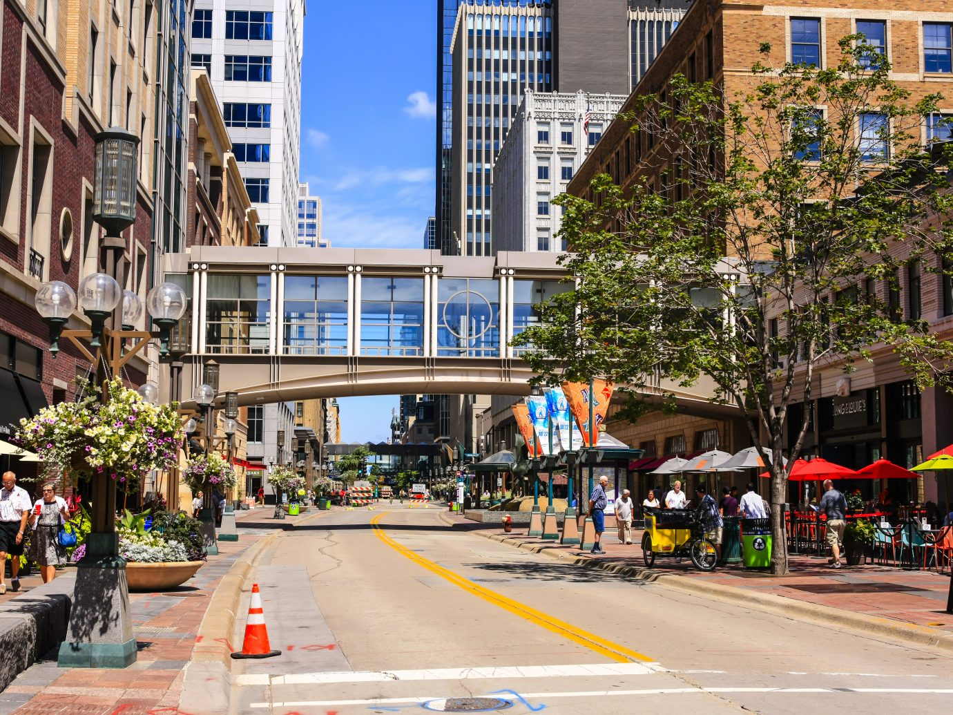 Nicollet Mall street in downtown Minneapolis MN