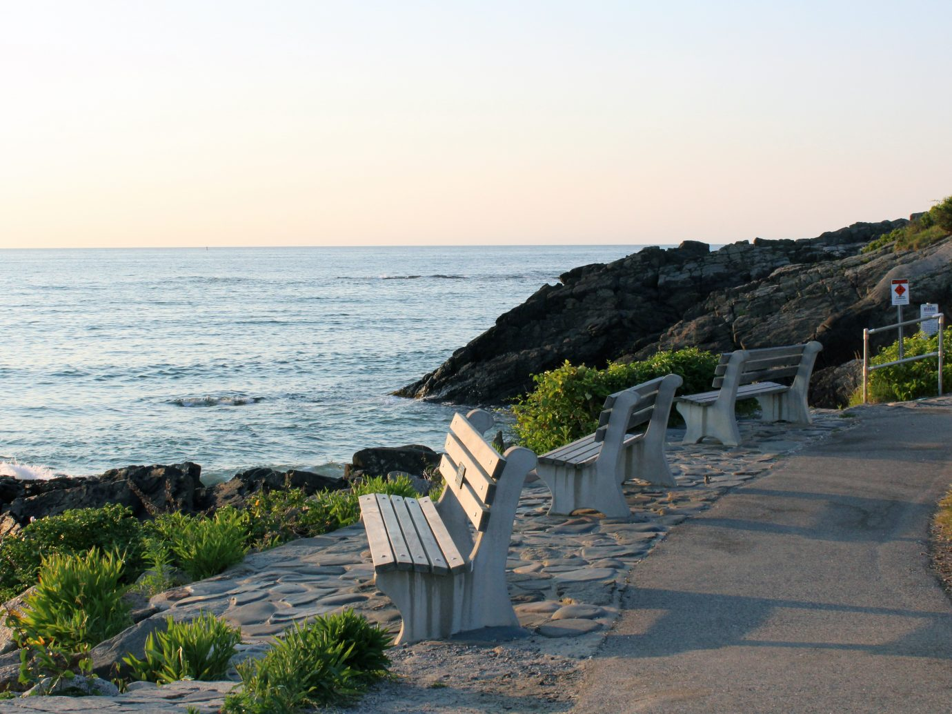 Ogunquit, Maine - The Marginal Way, a picturesque mile-long footpath along New England's Coast. This photo was taken at dawn in the summer.