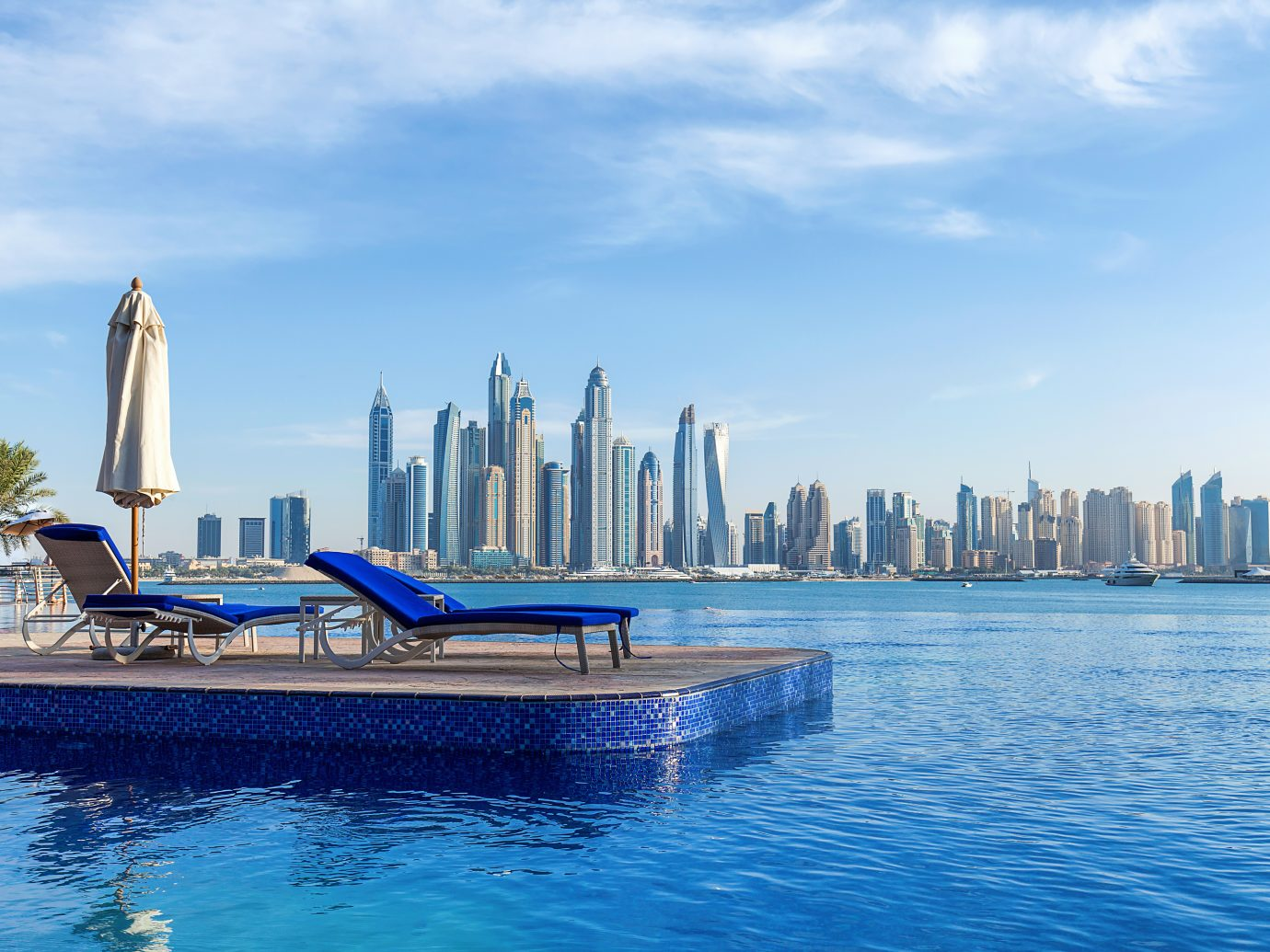 Pool view to Dubai Marina