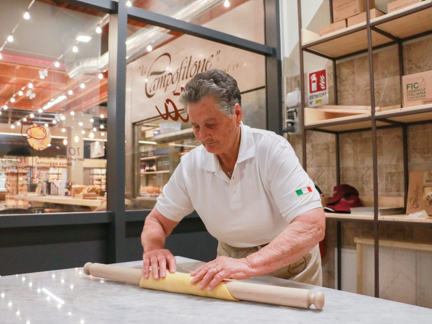Making pasta at Eataly World