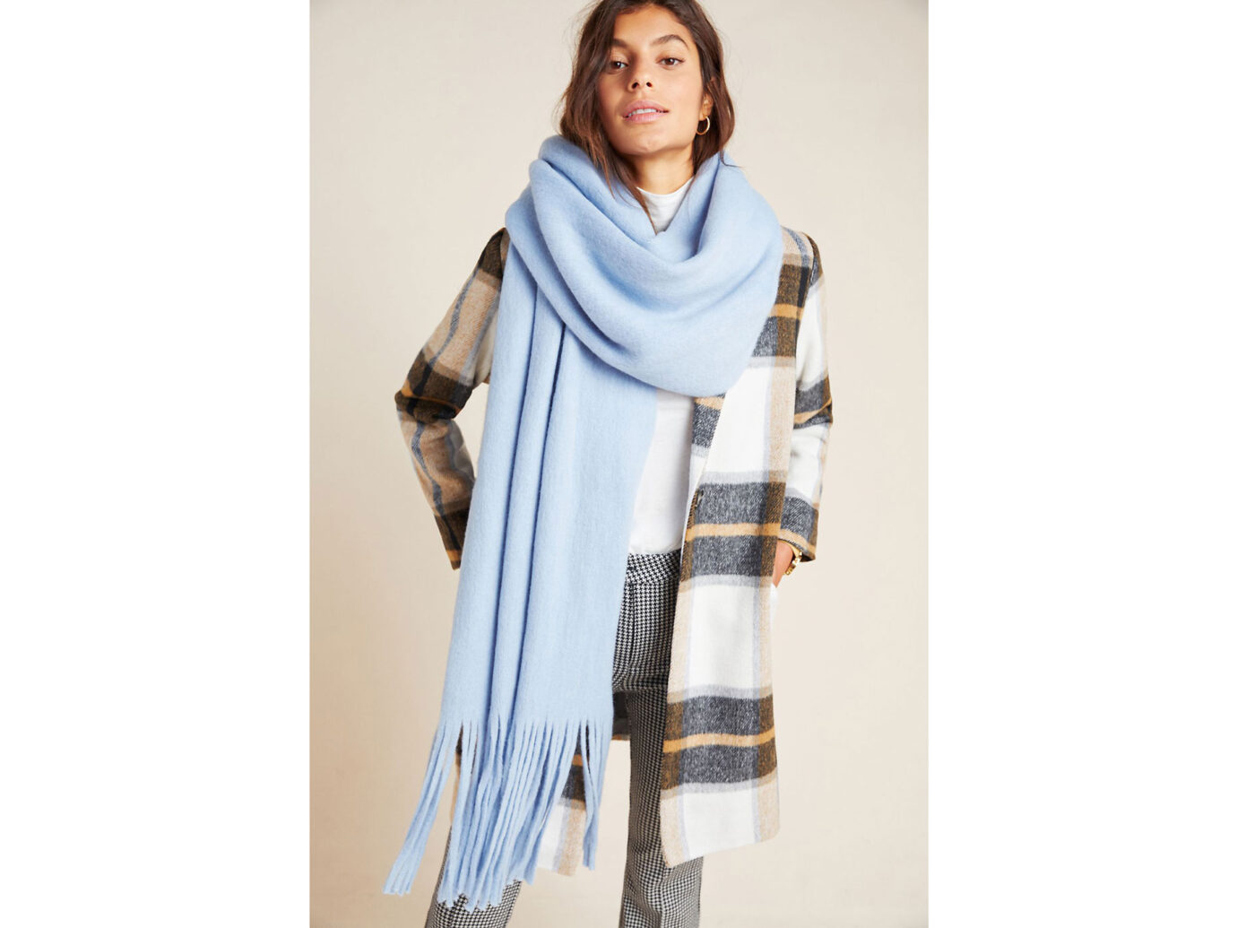 Anthropologie Mimi Fringed Wrap Scarf