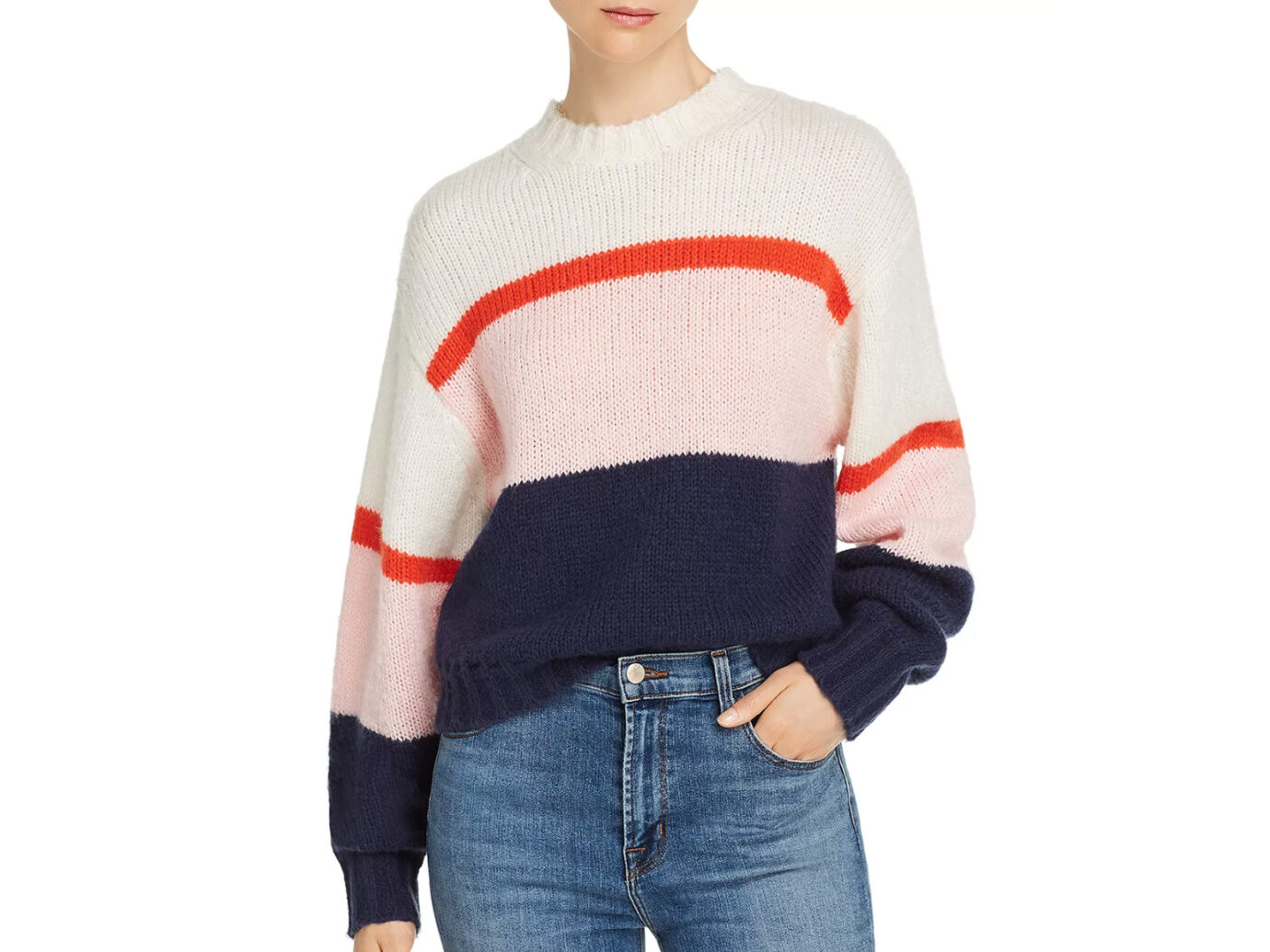 Rebecca Minkoff Liliana Striped & Color-Blocked Sweater