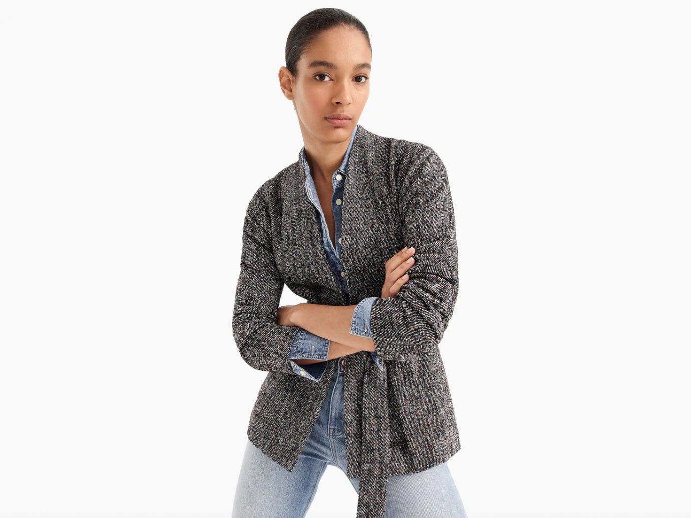 Wrap Jacket in Donegal Tweed