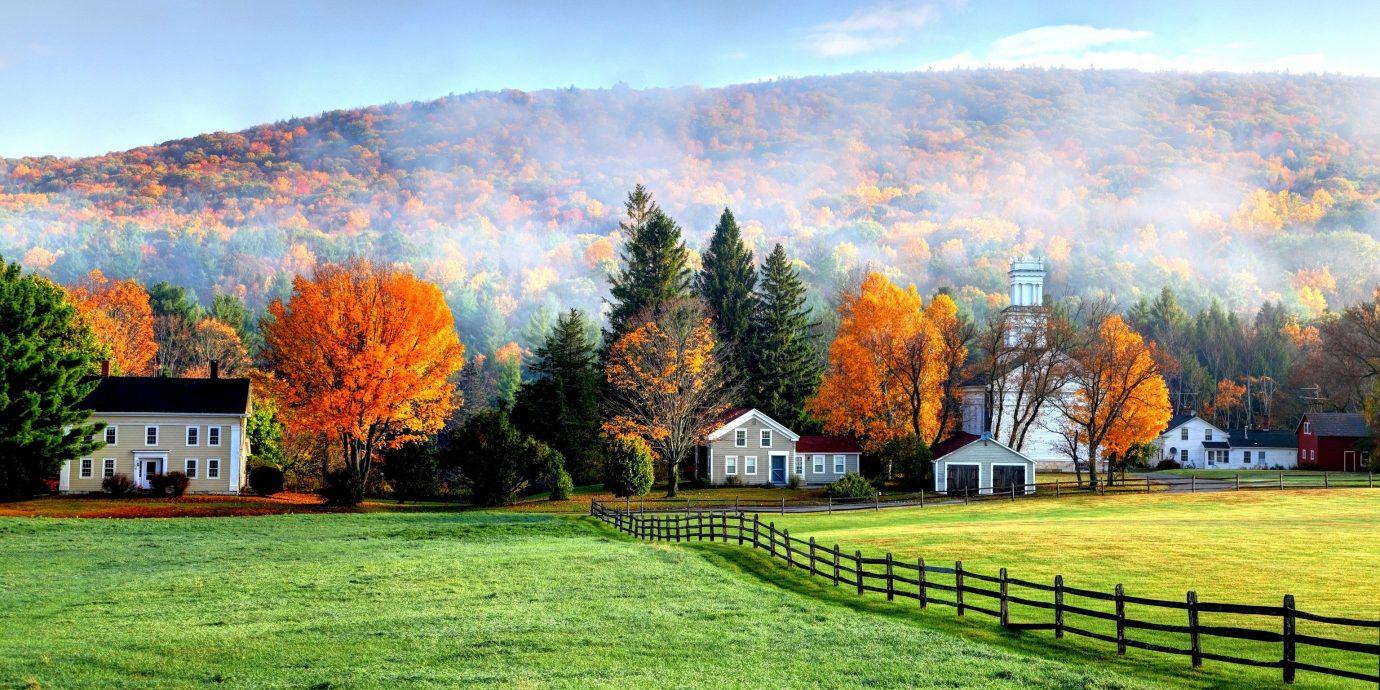 fall scene in the Berkshires