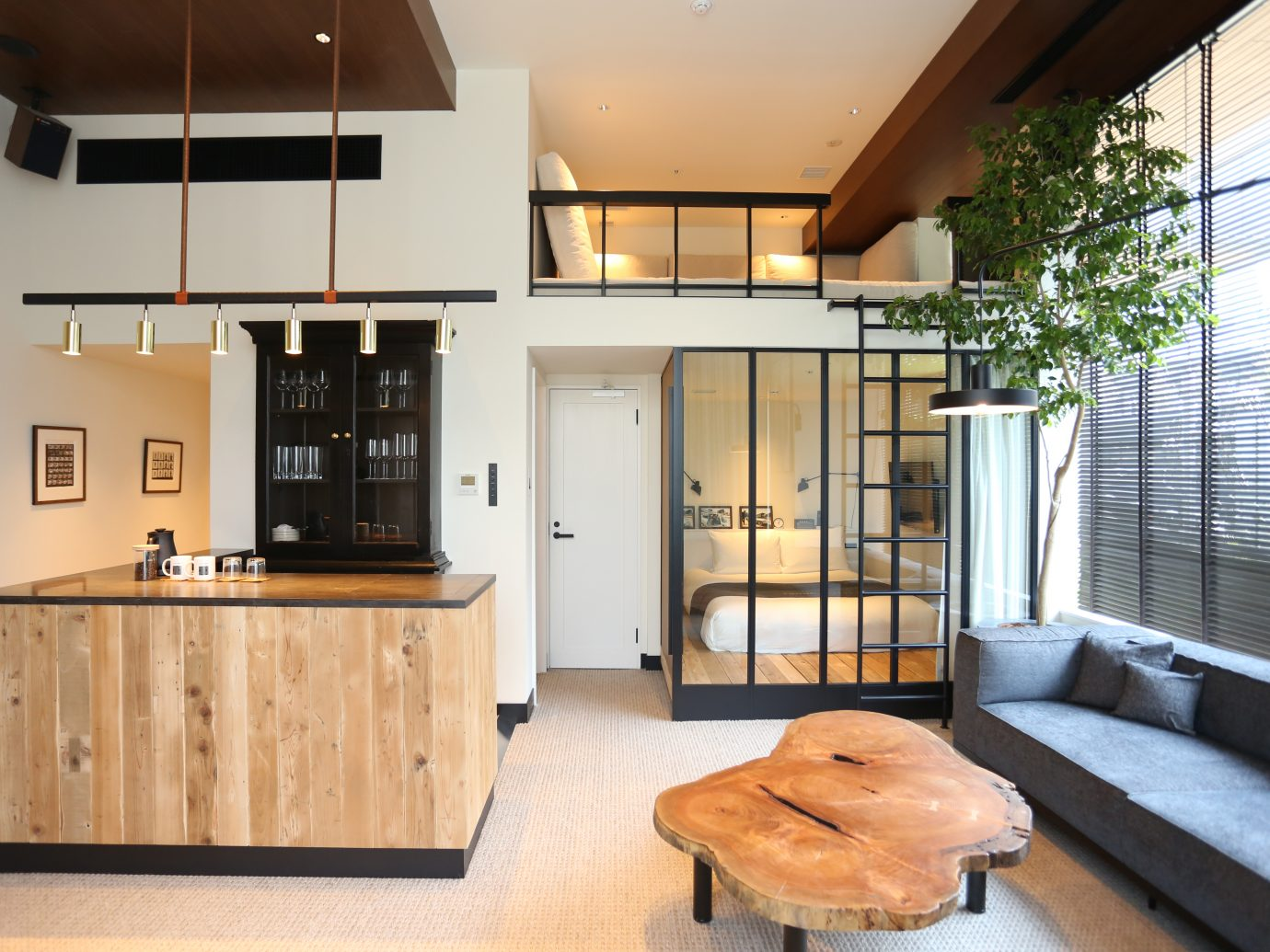 Humble and modern room design at Trunk Hotel in Shibuya