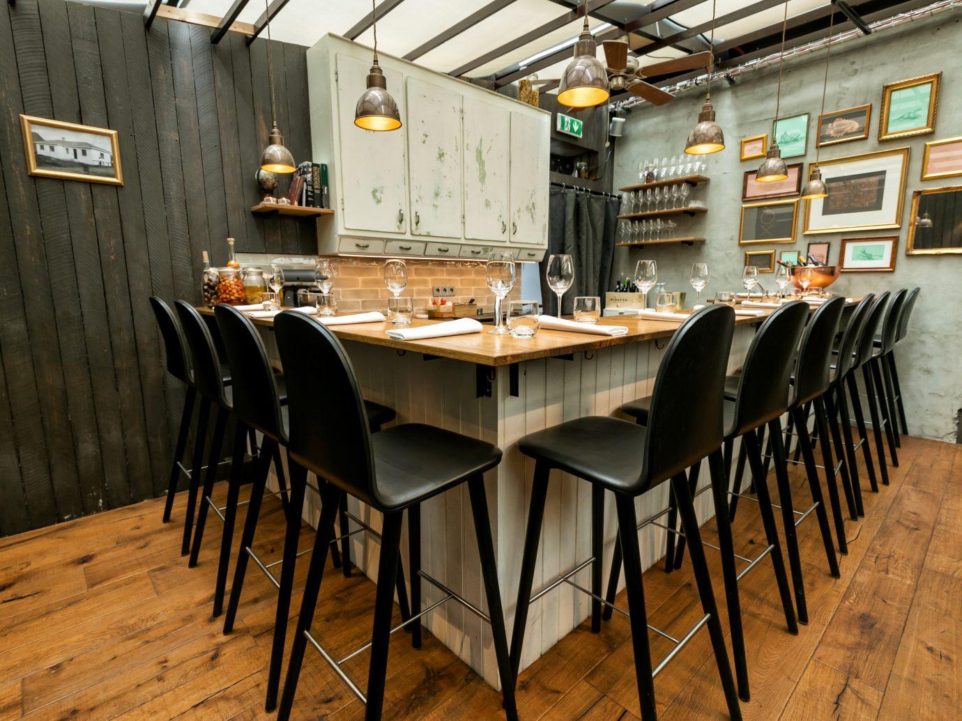 table at OX restaurant in Reykjavik Iceland