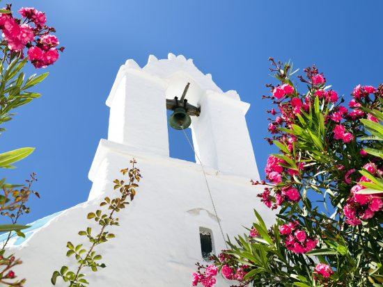Greek orthodox church in Naxos, Cyclades Islands, Aegean Sea, Greece, Europe