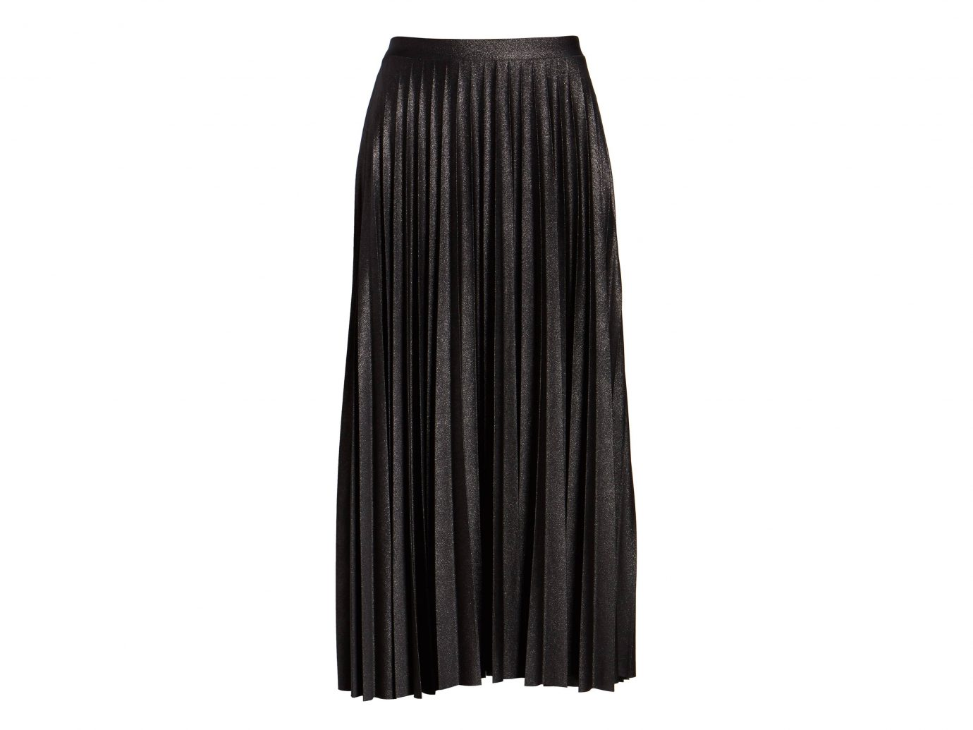 HALOGEN Metallic Pleat Midi Skirt