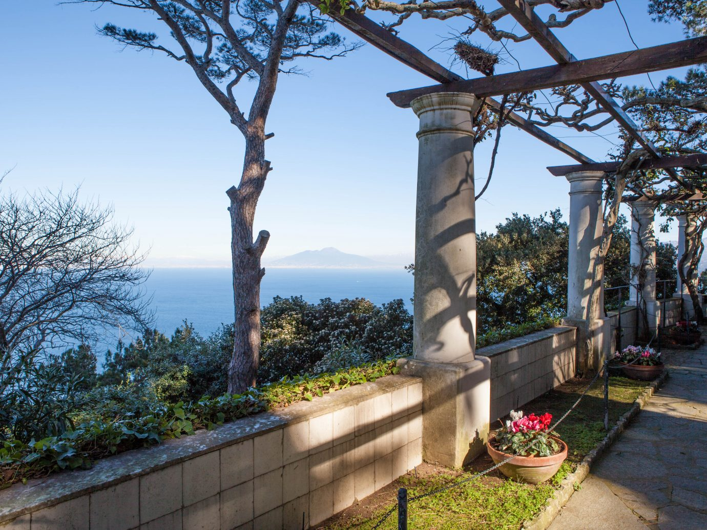 """Beautiful patio in Villa San Michele, Capri, Naples, Italy.Other similar files:"""