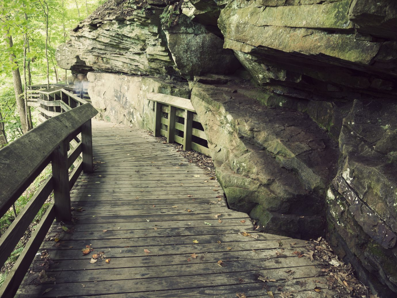 Tourist trail to Brandwine Falls in Cuyahoga Valley National Park.