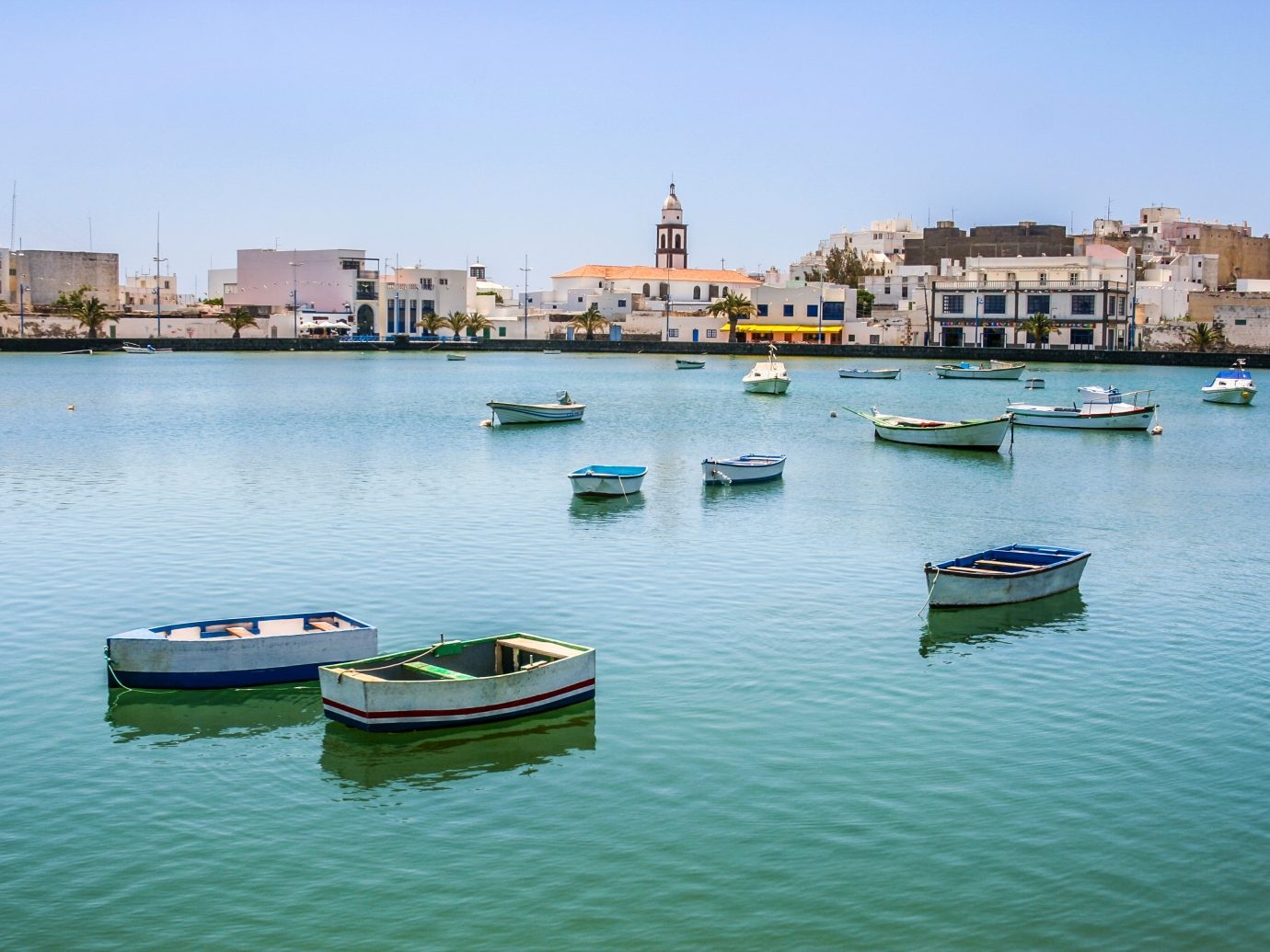 Charco de San Gines on midday in Arrecife, Spain