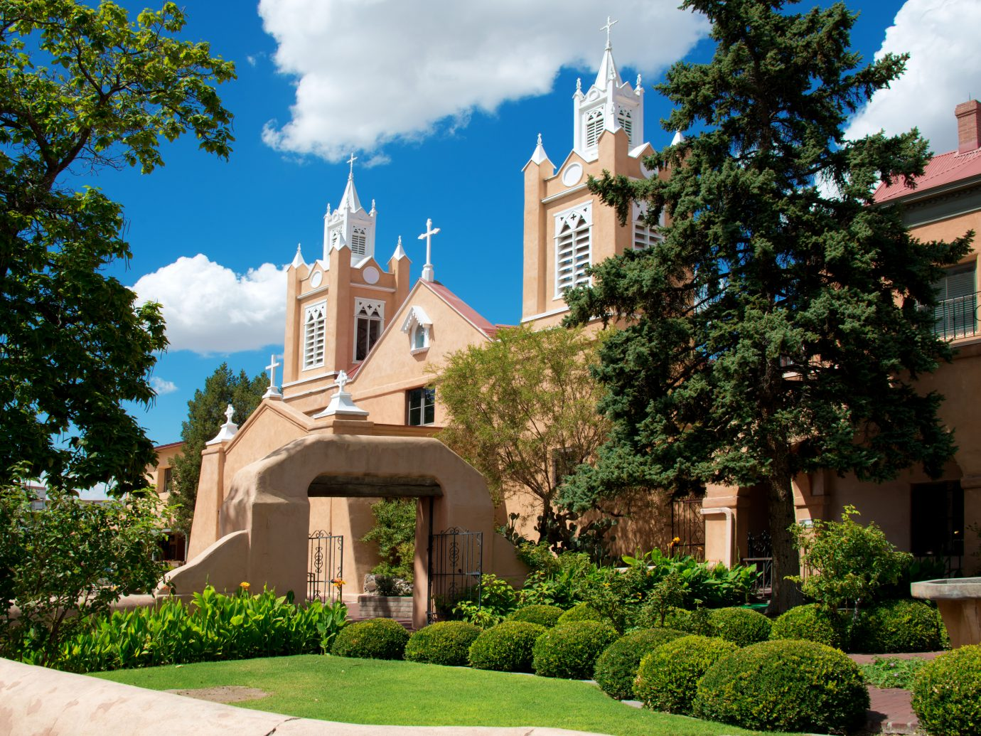 Historic San Felipe de Neri Church, Albuquerque, New Mexico, Old Town Square.